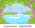 illustration of fairy landscape ... | Shutterstock .eps vector #282231398