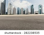 asphalt road in front of the... | Shutterstock . vector #282238535