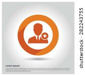 add user member icon  circle... | Shutterstock .eps vector #282243755