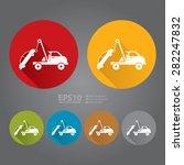 vector   circle tow car service ... | Shutterstock .eps vector #282247832