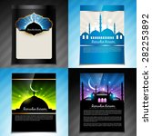 vector set of ramadan kareem... | Shutterstock .eps vector #282253892