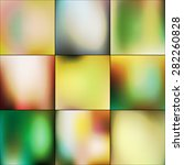 colorful collection of blurred...   Shutterstock .eps vector #282260828