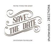 save the date  illustrator...   Shutterstock .eps vector #282274346