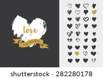 heart icons  hand drawn icons... | Shutterstock .eps vector #282280178