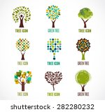 collection of green tree  ... | Shutterstock .eps vector #282280232