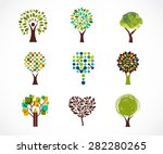 collection of green tree  ... | Shutterstock .eps vector #282280265