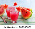 Watermelon Drink In Glasses...
