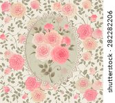 seamless vintage floral... | Shutterstock .eps vector #282282206