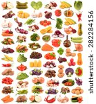 collection of vegetables | Shutterstock . vector #282284156