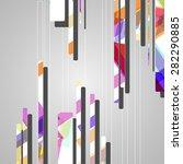 futuristic background ... | Shutterstock .eps vector #282290885