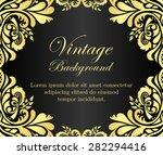 black vintage background with... | Shutterstock .eps vector #282294416