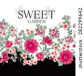 cherry blossom vector...   Shutterstock .eps vector #282299642