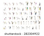 medical staff and patients... | Shutterstock .eps vector #282304922