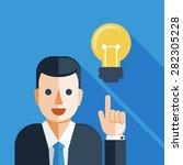 businessman with light bulb   Shutterstock .eps vector #282305228