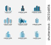 set of building logo design.... | Shutterstock .eps vector #282316856