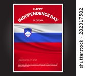 slovenia independence day poster | Shutterstock .eps vector #282317582