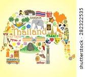 Thai Elephant. Set Vector Icon...