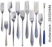 set of forks isolated on white... | Shutterstock . vector #282324686