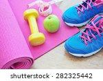 set for sports activities on...   Shutterstock . vector #282325442