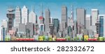 big city with skyscrapers and... | Shutterstock .eps vector #282332672