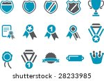 vector icons pack   blue series ... | Shutterstock .eps vector #28233985