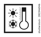 thermometer sun snowflake | Shutterstock .eps vector #282346046