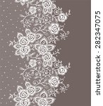 vertical lace seamless pattern. | Shutterstock .eps vector #282347075