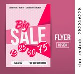 abstract creative sale flyers ... | Shutterstock . vector #282356228