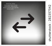 vector icon arrow | Shutterstock .eps vector #282357542