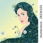beautiful girl | Shutterstock .eps vector #28236103