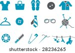 vector icons pack   blue series ... | Shutterstock .eps vector #28236265