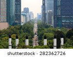 skyline in mexico city  view... | Shutterstock . vector #282362726