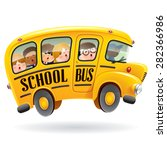 school bus. kids riding on... | Shutterstock .eps vector #282366986
