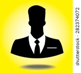 vector icon of businessman with ... | Shutterstock .eps vector #282374072
