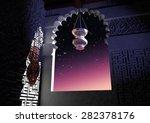 mosque lamp lantern   Shutterstock . vector #282378176