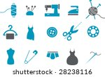 Vector icons pack - Blue Series, taylor collection - stock vector