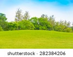 green grass on a golf field | Shutterstock . vector #282384206