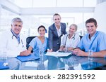 team of doctors and...   Shutterstock . vector #282391592