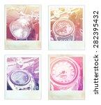 vintage motorcycle speedometer... | Shutterstock . vector #282395432