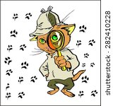 Cat Like Sherlock Holmes With ...