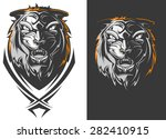 angry tiger | Shutterstock .eps vector #282410915
