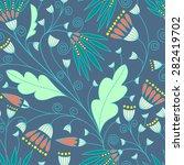 seamless floral pattern... | Shutterstock .eps vector #282419702
