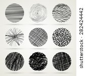 hand drawn scribble circles... | Shutterstock . vector #282424442