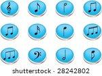 icon. music notes. vector.   Shutterstock .eps vector #28242802