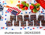 variety of desserts on the... | Shutterstock . vector #282432005