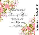 wedding invitation card | Shutterstock .eps vector #282437942