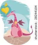 vector illustration of a cute... | Shutterstock .eps vector #28244104
