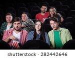 merry company in the cinema ... | Shutterstock . vector #282442646