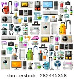 appliances a set of colored... | Shutterstock .eps vector #282445358