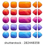 vector colorful buttons set ...